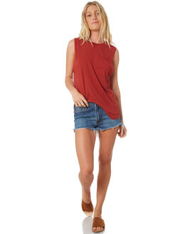 RUST WOMENS CLOTHING ALL ABOUT EVE SINGLETS - 6401057COPP