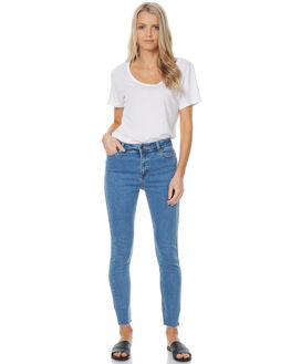 VINTAGE BLUE WOMENS CLOTHING THE HIDDEN WAY JEANS - H8172197VINT
