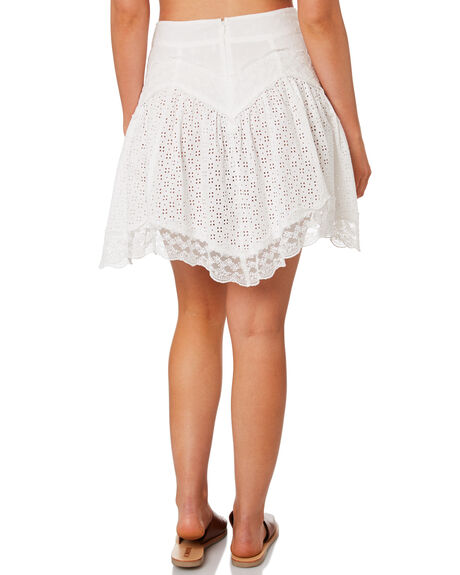 WHITE WOMENS CLOTHING TIGERLILY SKIRTS - T392284WHT