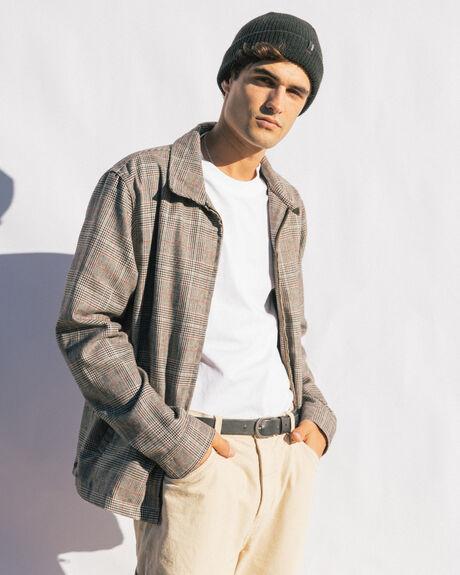 TAN MENS CLOTHING THRILLS JACKETS - TW20-204CTAN