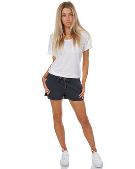 BLACK WOMENS CLOTHING SWELL SHORTS - S8172232BLK