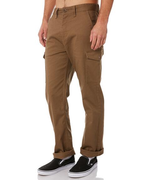 DARK KHAKI MENS CLOTHING BRIXTON PANTS - 04082DKKHK
