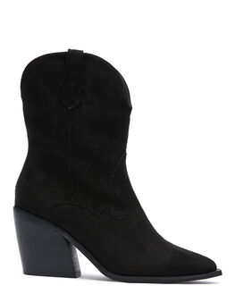 BLACK WOMENS FOOTWEAR THERAPY BOOTS - 10524BLK