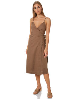 CHOCOLATE WOMENS CLOTHING NUDE LUCY DRESSES - NU23731CHOC