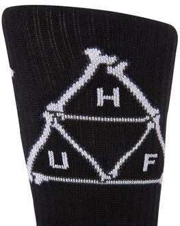 BLACK MENS CLOTHING HUF SOCKS + UNDERWEAR - SK00349-BLACK