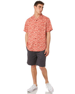 FADED RED CLOUDBREAK MENS CLOTHING OUTERKNOWN SHIRTS - 131096FRC