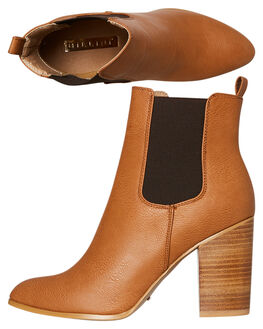 TAN TUMBLE WOMENS FOOTWEAR BILLINI BOOTS - B796TAN