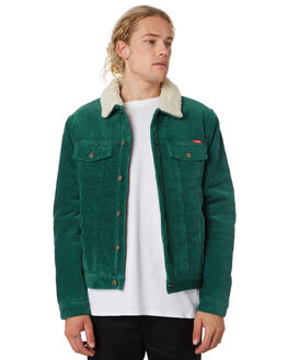 SLICK GREEN MENS CLOTHING WRANGLER JACKETS - 901561LI6