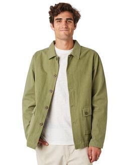 OLIVE MENS CLOTHING RHYTHM JACKETS - JAN20M-JK03-OLI