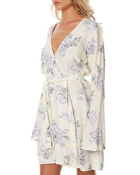 CREAM FLORA WOMENS CLOTHING RUE STIIC DRESSES - BC10CRE