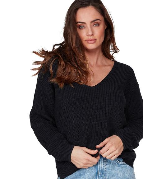 BLACK WOMENS CLOTHING BILLABONG KNITS + CARDIGANS - BB-6507798-BLK
