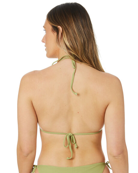 ALOE GREEN WOMENS SWIMWEAR SWELL BIKINI TOPS - S8211332ALOGN