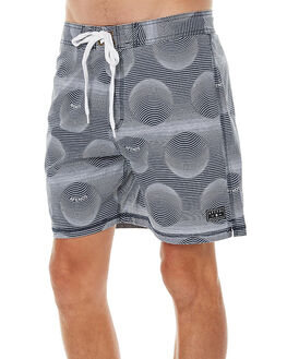 DEEP NAVY MENS CLOTHING AFENDS BOARDSHORTS - 10-01-055DNVY