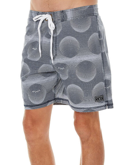 DEEP NAVY MENS CLOTHING AFENDS BOARDSHORTS - 10-01-055DNVY