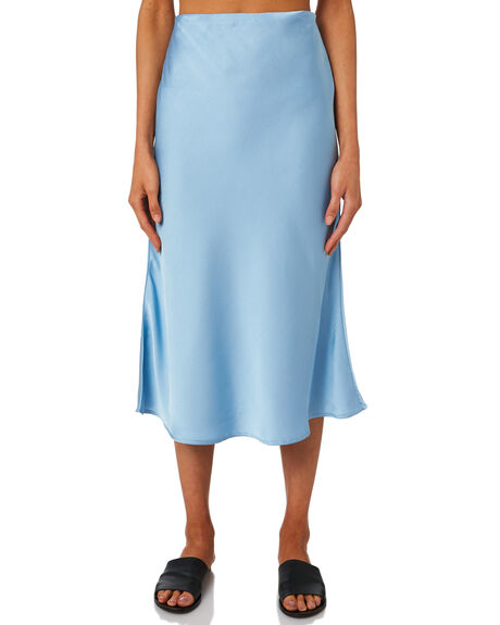 SOFT BLUE WOMENS CLOTHING LULU AND ROSE SKIRTS - LU23705BLUE