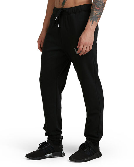 BLACK MENS CLOTHING RVCA PANTS - RV-R381277-BLK