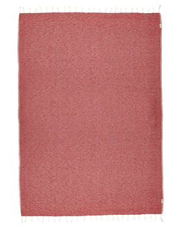 RED WOMENS ACCESSORIES MAYDE TOWELS - 15BRIGREDRED