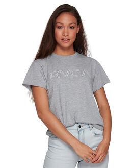 GREY MARLE WOMENS CLOTHING RVCA TEES - RV-R281692-GYM