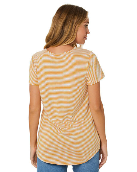 HONEY STRIPE WOMENS CLOTHING BETTY BASICS TEES - BB344T20HSTP