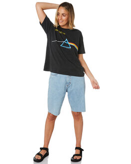 WASHED BLACK WOMENS CLOTHING SUNNYVILLE TEES - 48L0027-BLK