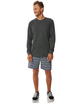 PIRATE BLACK MENS CLOTHING RVCA TEES - R371091PBLK