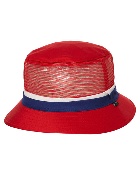 27dabfcb8a1 Brixton Hardy Bucket Hat - Red Navy