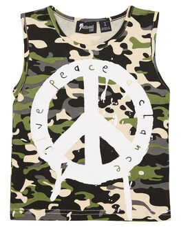 CAMO KIDS TODDLER BOYS RADICOOL DUDE TOPS - RD1023CAMO