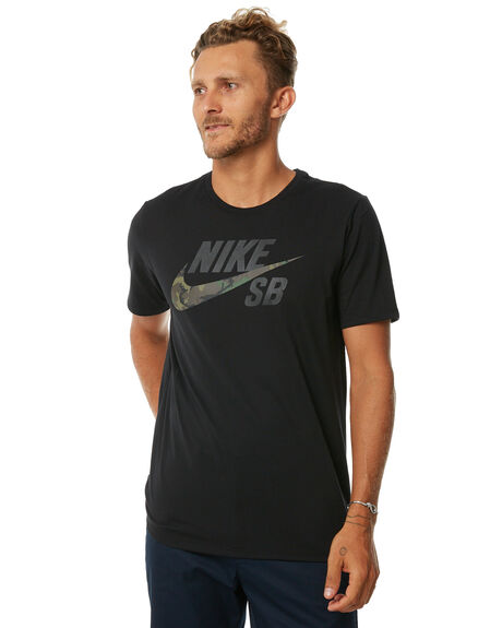 BLACK MENS CLOTHING NIKE TEES - 892823010