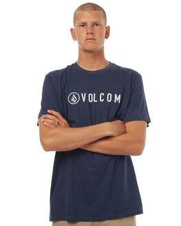 NAVY MARLE MENS CLOTHING VOLCOM TEES - A57117G0NVM
