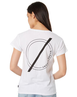 WHITE WOMENS CLOTHING SILENT THEORY TEES - 6022047WHT