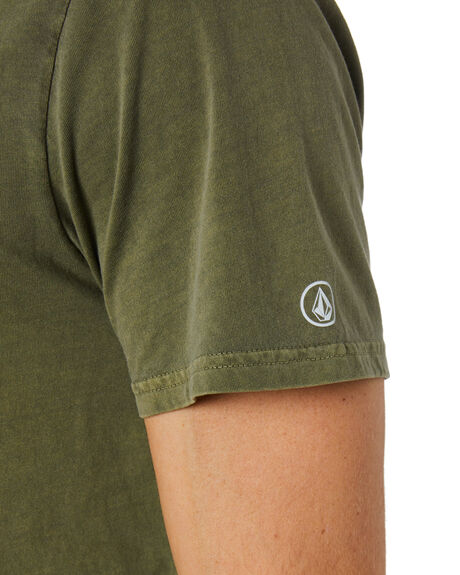 ARMY GREEN COMBO MENS CLOTHING VOLCOM TEES - A4302001ARC