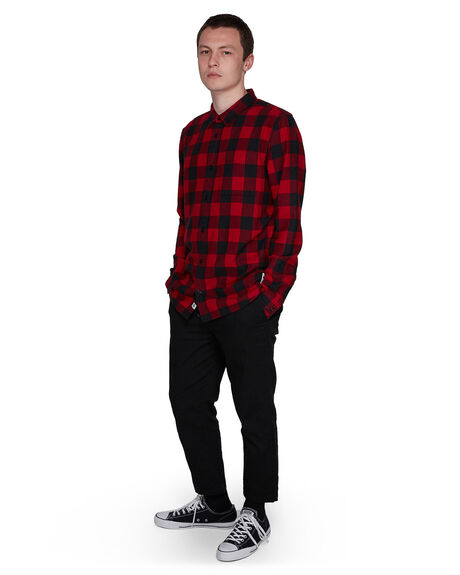 RED MENS CLOTHING ELEMENT SHIRTS - EL-107216-RED