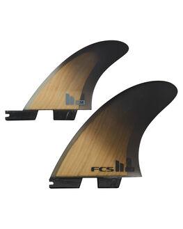 BAMBOO BLACK BOARDSPORTS SURF FCS FINS - FRMX-PC01-XL-TS-RBAM