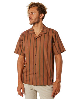 LIGHT BROWN OUTLET MENS KATIN SHIRTS - WVHER02LBRN