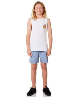 WHITE KIDS BOYS SANTA CRUZ SINGLETS - SC-YTC8106WHT