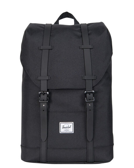 Herschel Supply Co Kids Retreat Youth Backpack - Black Black Rubber ... 64e841b985889