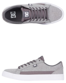 GREY HEATHER MENS FOOTWEAR DC SHOES SNEAKERS - ADYS300490-GRH