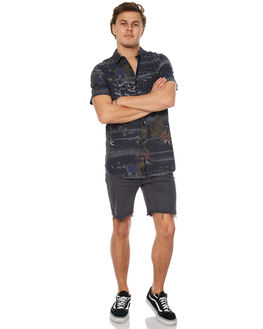 BLACK MENS CLOTHING GLOBE SHIRTS - GB01714002BLK