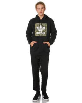 BLACK RAW KHAKI MENS CLOTHING ADIDAS JUMPERS - DU8371BLKKH