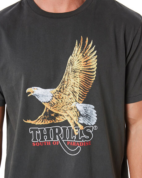 MERCH BLACK MENS CLOTHING THRILLS TEES - TH20-128BMMBLK