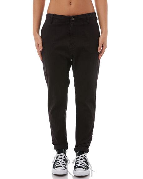 BLACK WOMENS CLOTHING RUSTY PANTS - PAL1038BLK