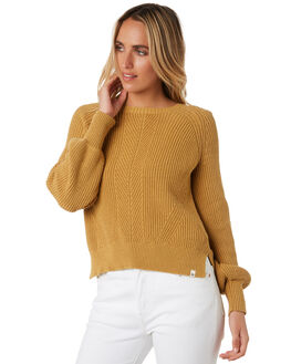 MUSTARD WOMENS CLOTHING RIP CURL KNITS + CARDIGANS - GSWHB11041