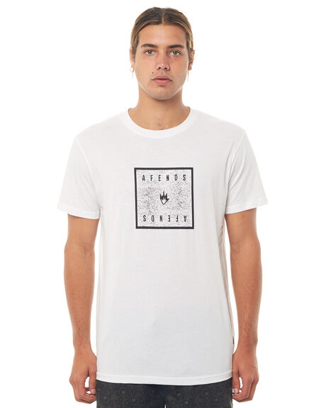 WHITE MENS CLOTHING AFENDS TEES - M181018WHT