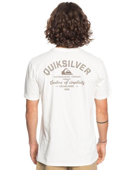 SNOW WHITE MENS CLOTHING QUIKSILVER TEES - EQYZT06044-WBK0