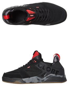 BLACK RED CAMO MENS FOOTWEAR GLOBE SNEAKERS - GBTILTEVO-20341