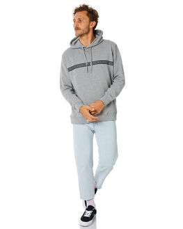 GREY MELANGE MENS CLOTHING BARNEY COOLS JUMPERS - 405-CR2GMLNG