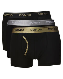 BLACK SILVER GOLD MENS ACCESSORIES BONDS SOCKS + UNDERWEAR - MZ963A16K