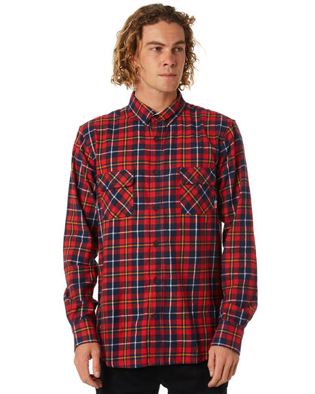 RED OUTLET MENS ZOO YORK SHIRTS - ZY-MSB8088RED