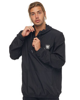 BLACK MENS CLOTHING ADIDAS ORIGINALS JACKETS - CE1822BLK