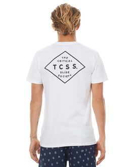 BLANC MENS CLOTHING THE CRITICAL SLIDE SOCIETY TEES - SAT1711BLANC